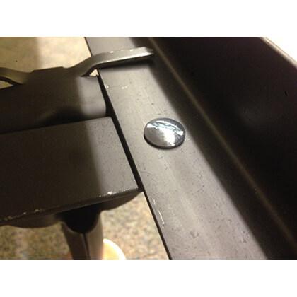 Headboard/foot Board Bolt Up Steel Super Duty/waterbed Frame (twin)