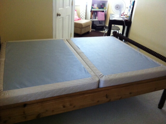 Mattress Box Spring 2 Pc Steel King Size Bed Set Bedroom Furniture Boxspring New