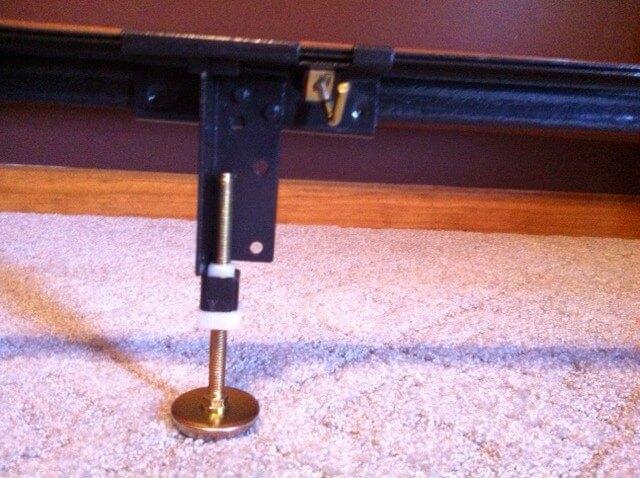Steel Bed Frame Center Support 3 Rails 3 Adjustable Legs