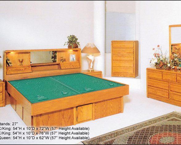 Large Oak Board Frame in Bedroom Set Up