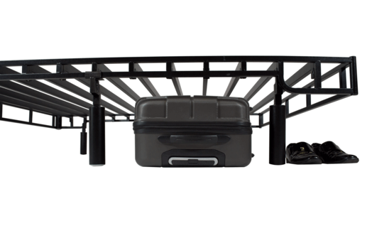 Heavy Duty Steel Bed Foundation With Storage – Forever Foundation Store More Black