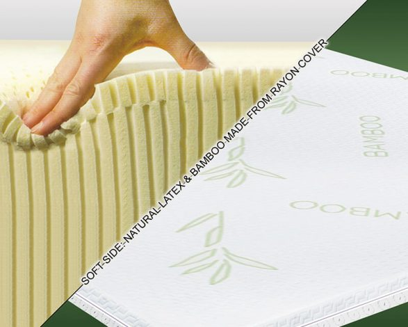 Images 2 In 1 Reversible Latex Mattress Topper