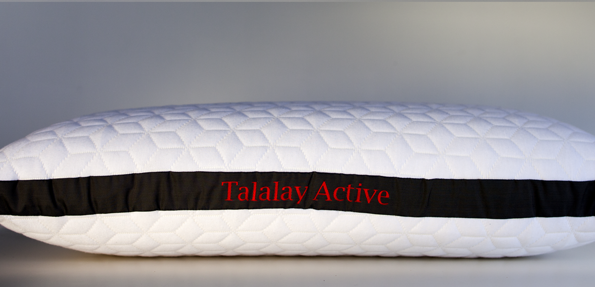 Talalay active latex queen pillow by pure talalay bliss for Pillow back bed frame