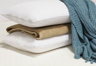 Pillows and bedding for custom mattresses.